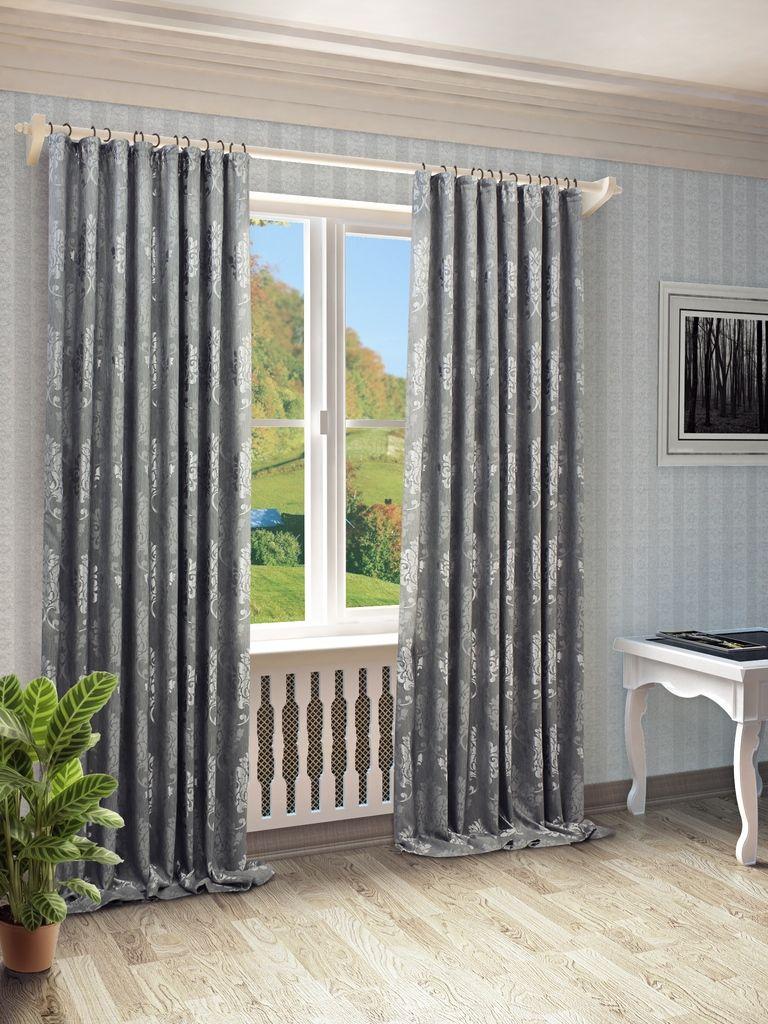Штора Sanpa Home Collection Оливия, на ленте, цвет: серый, высота 280 смHP10569/5/1E Оливия серый, , 200*280 см