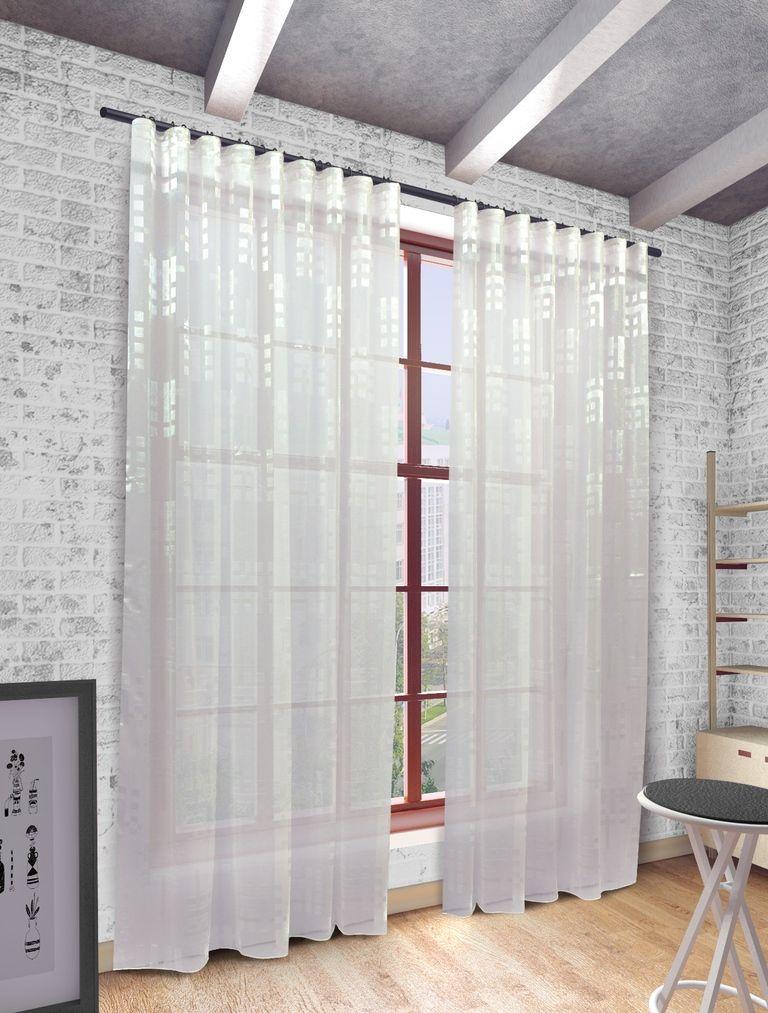 Тюль Sanpa Home Collection Квадро, на ленте, цвет: белый, высота 280 смHP2382/1/1E Квадро белый, , 300*280 см
