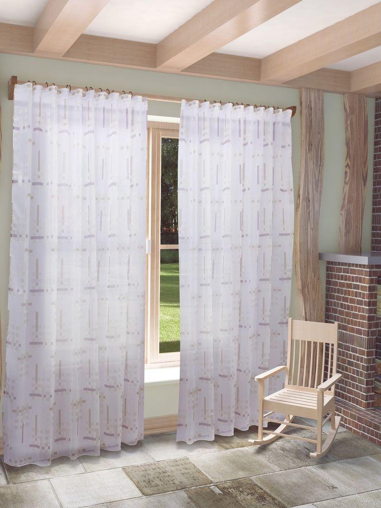 Тюль Sanpa Home Collection Квадро, на ленте, цвет: сиреневый, высота 280 смHP2382/6/1E Квадро сиреневый, , 300*280 см