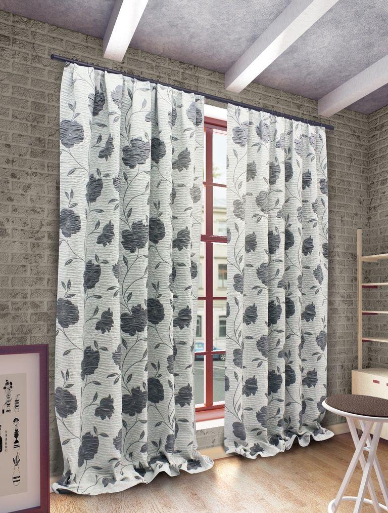 Штора Sanpa Home Collection Ранди, на ленте, цвет: серый, высота 280 смHP192155/8/1Е Ранди серый, , 200*280 см