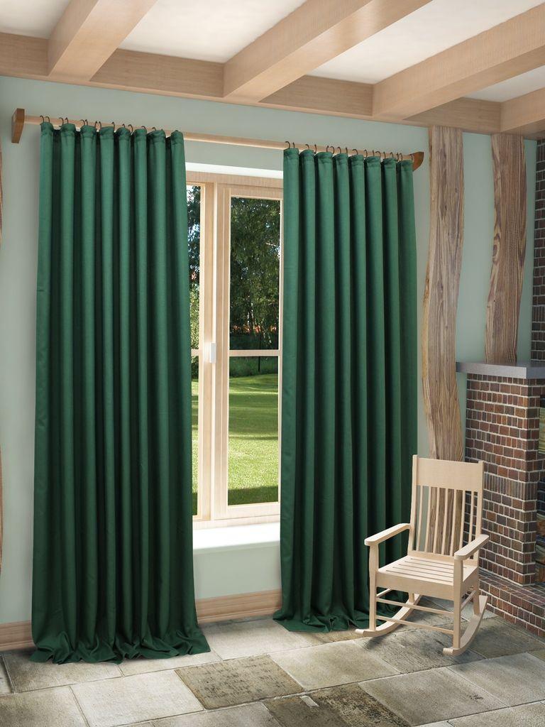 Штора Sanpa Home Collection Джоди, на ленте, цвет: зеленый, высота 280 смHP8152/29/1EДжоди зеленый, , 200*280 см