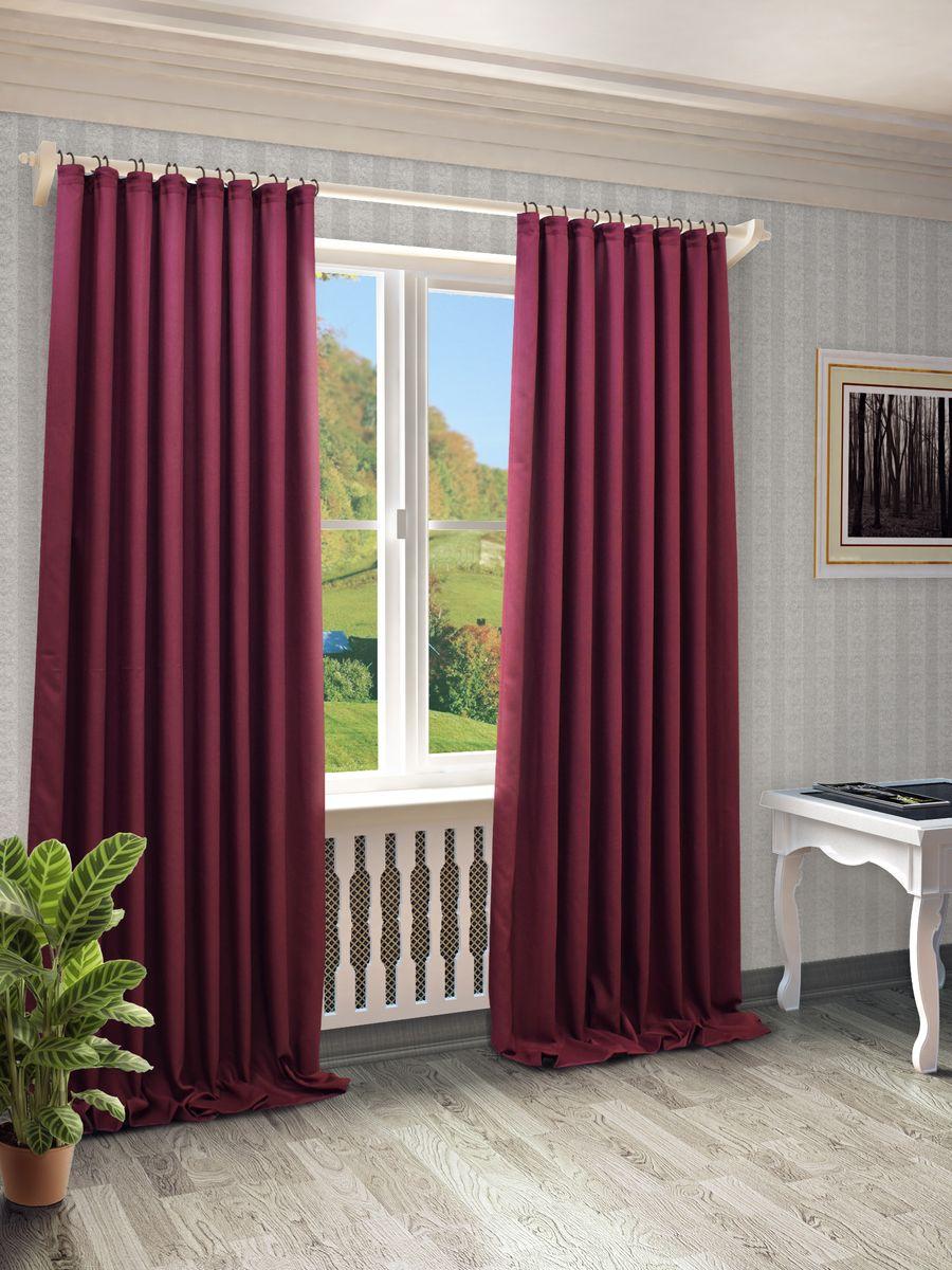 Штора Sanpa Home Collection Джоди, на ленте, цвет: темно-лиловый, высота 280 смHP8152/37/1EДжоди т.лилов, , 200*280 см