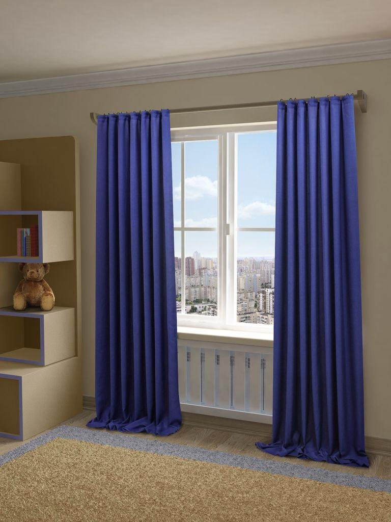Штора Sanpa Home Collection Джоди, на ленте, цвет: синий, высота 280 смHP8152/49/1EДжоди синий, , 200*280 см