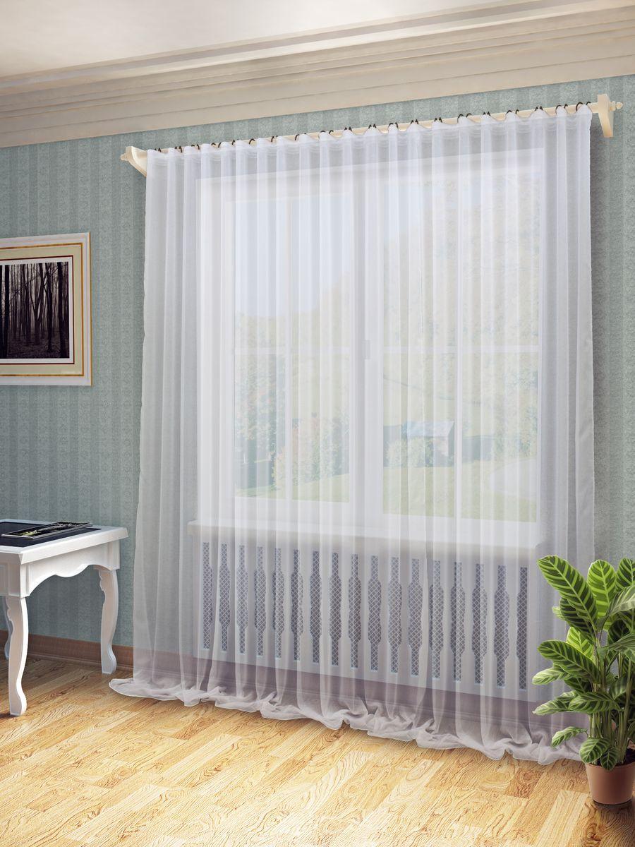 Тюль Sanpa Home Collection Дарсия, на ленте, цвет: белый, высота 280 смHP701/1000/1E Дарсия белый, , 300*280 см