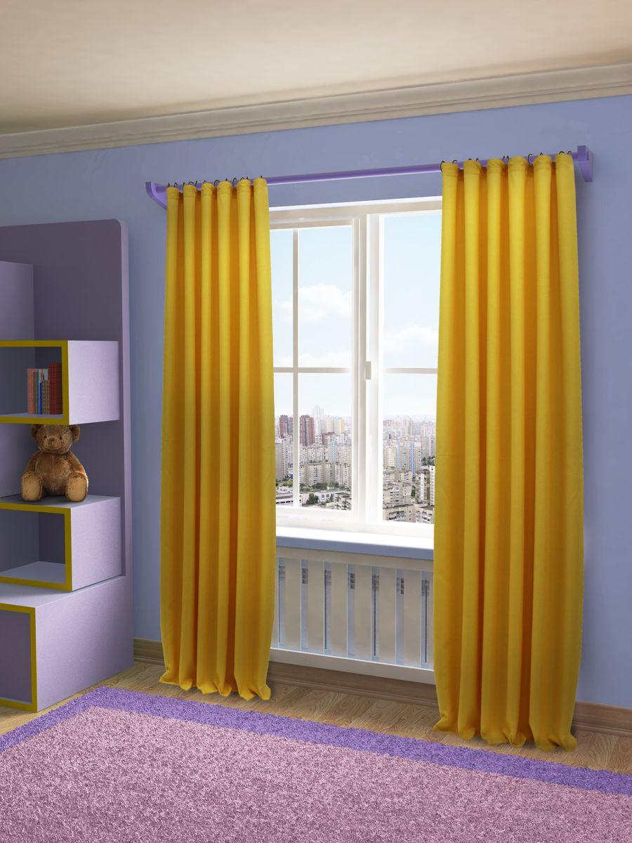 Штора Sanpa Home Collection Джоди, на ленте, цвет: желтый, высота 280 смHP8152/50/1EДжоди желтый, , 200*280 см