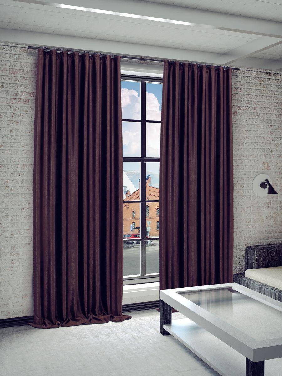 Штора Sanpa Home Collection Жульет, на ленте, цвет: коричневый, высота 270 смHPJULY/7127/1E Жульет коричн, , 170*270 см