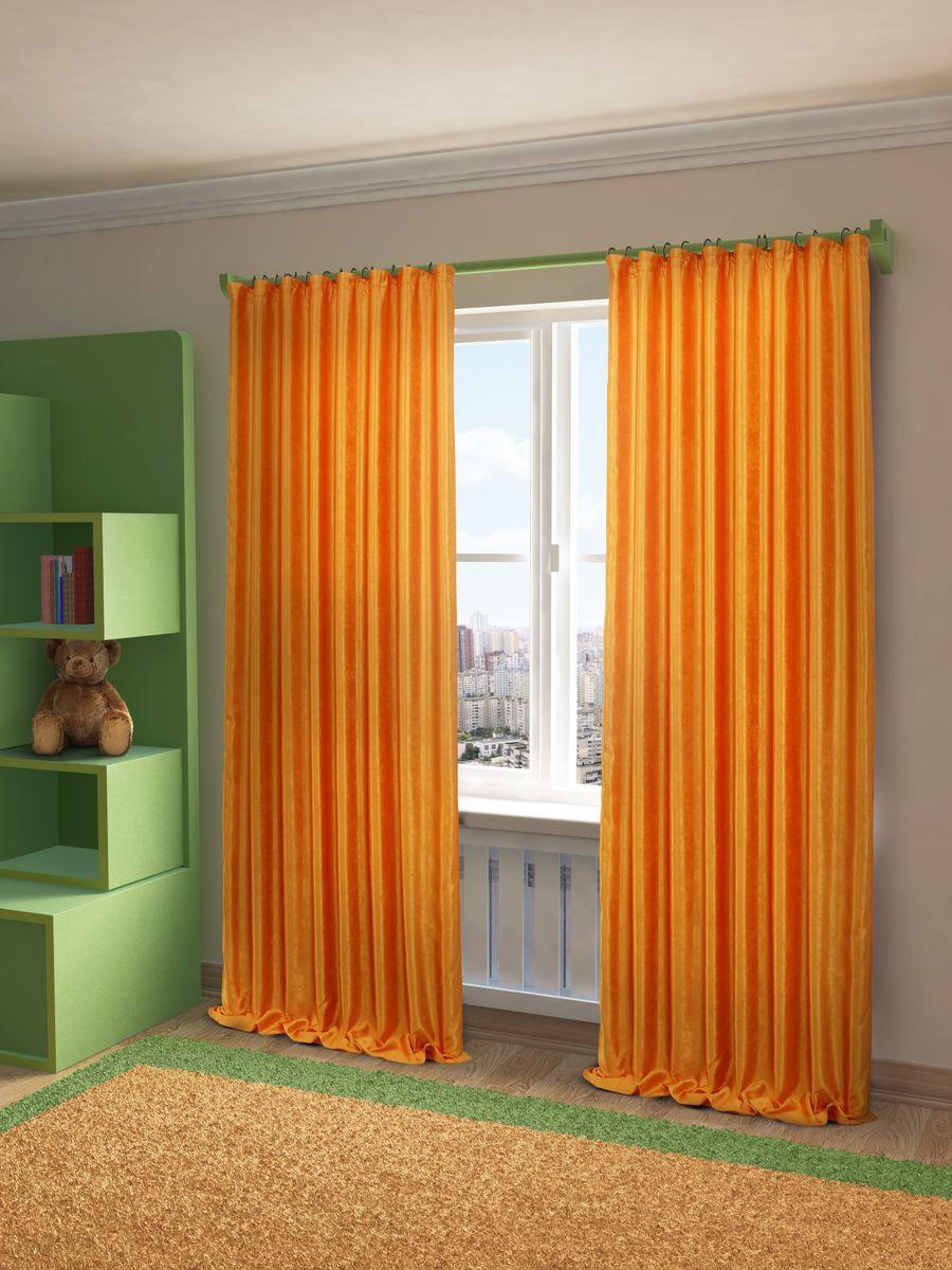 Штора Sanpa Home Collection Жульет, на ленте, цвет: оранжевый, высота 270 смHPJULY/6591/1E Жульет оранж, , 170*270 см