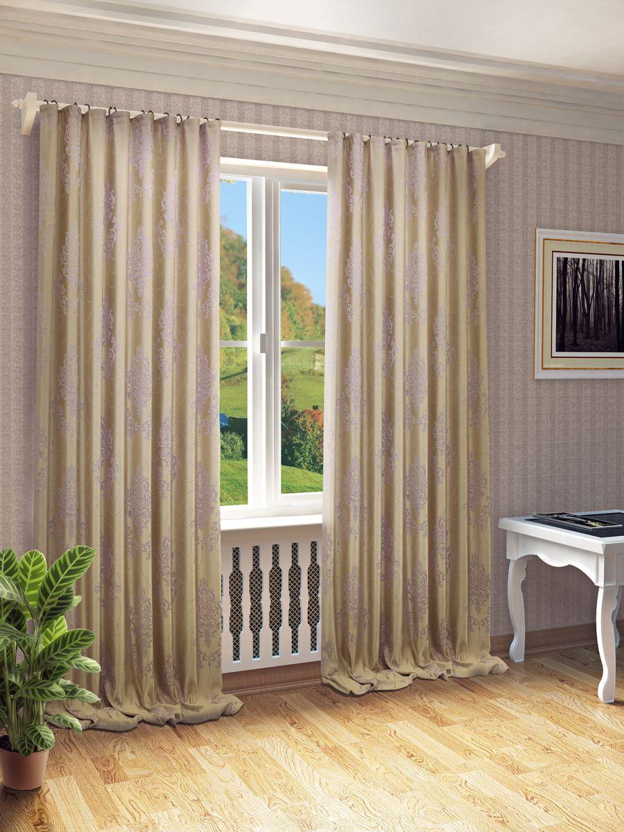 Штора Sanpa Home Collection Стефани, на ленте, цвет: сиреневый, высота 280 смHP66003/2/1Е Стефани сиреневый, , 200*280 см