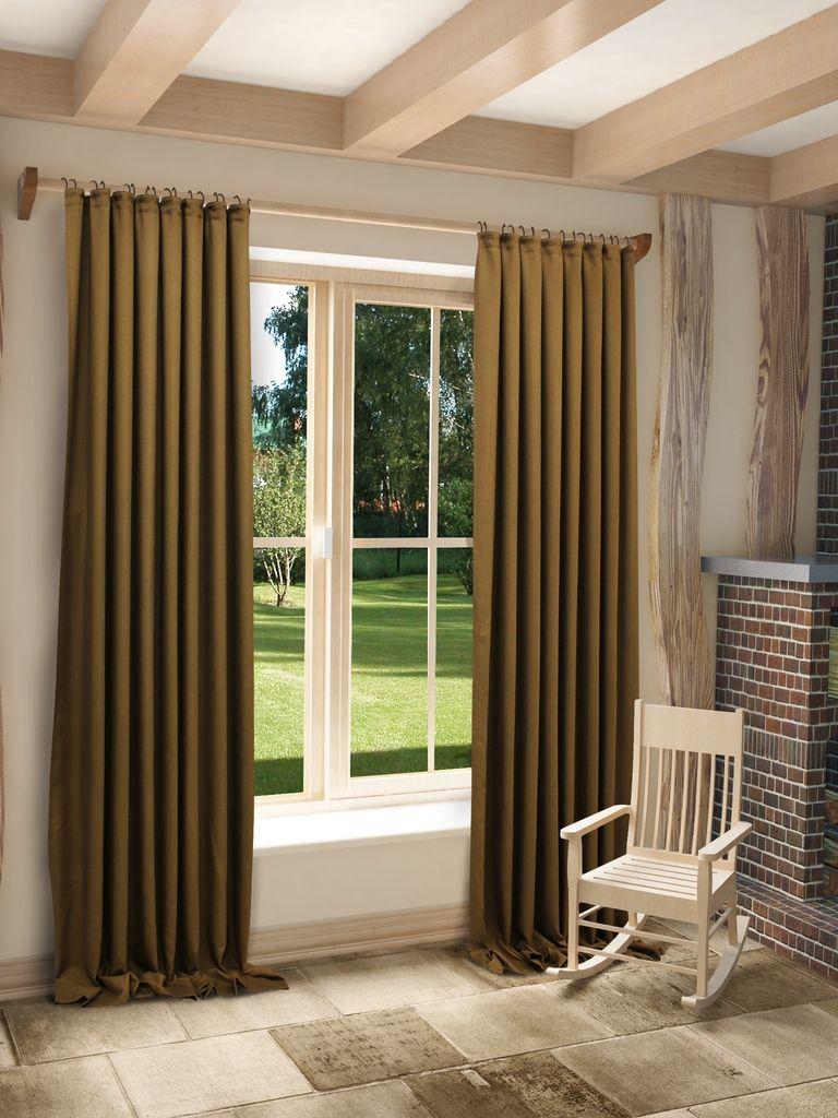 Штора Sanpa Home Collection Джоди, на ленте, цвет: коричневый, высота 260 смHPO8152/17/1E Джоди коричневый, , 150*260 см