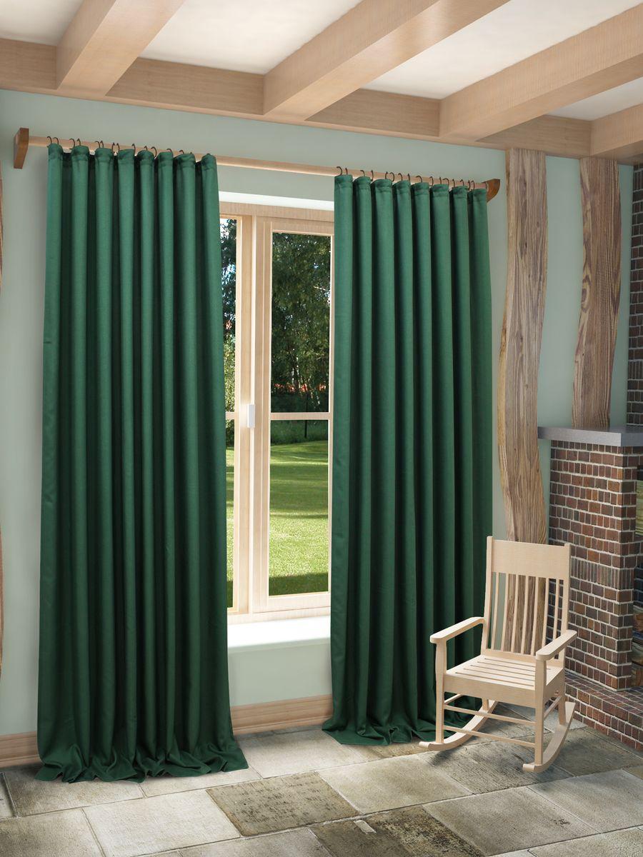 Штора Sanpa Home Collection Джоди, на ленте, цвет: зеленый, высота 260 смHPO8152/29/1E Джоди зеленый, , 150*260 см