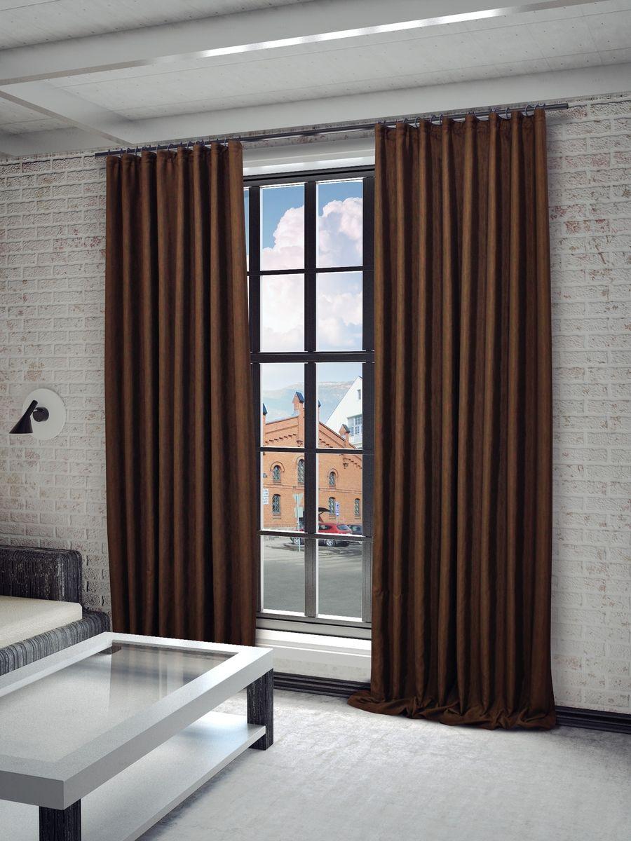 Штора Sanpa Home Collection Агнес, на ленте, цвет: коричневый, высота 260 смHPO8120/321/1 Агнес коричнев, , 150*260 см