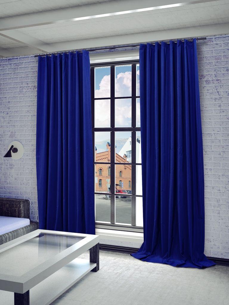Штора Sanpa Home Collection Миранда, на ленте, цвет: синий, высота 260 смHPO7100/2906/1Е Миранда синий, , 150*260 см
