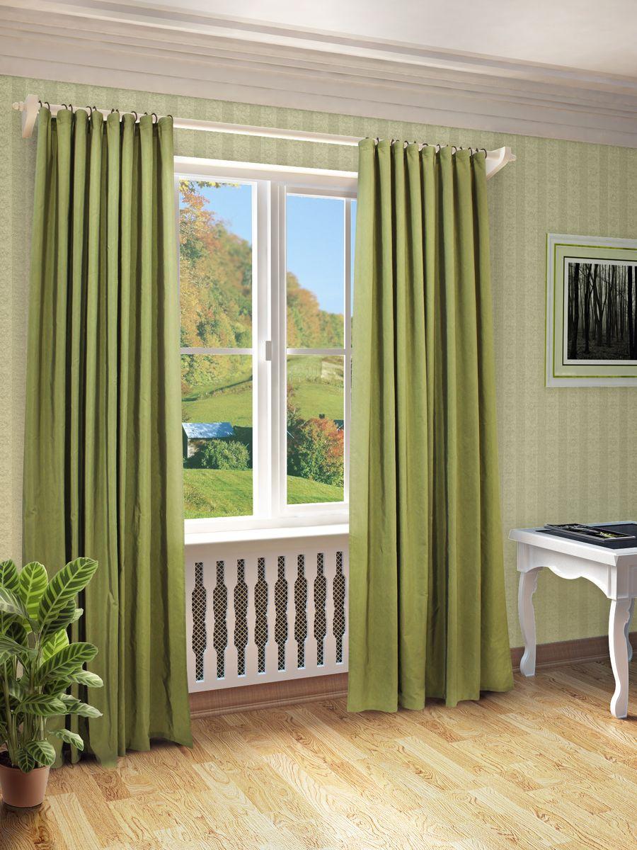 Штора Sanpa Home Collection Миранда, на ленте, цвет: светло-зеленый, высота 260 смHPO7100/1986/1E Миранда св.зелен, , 150*260 см