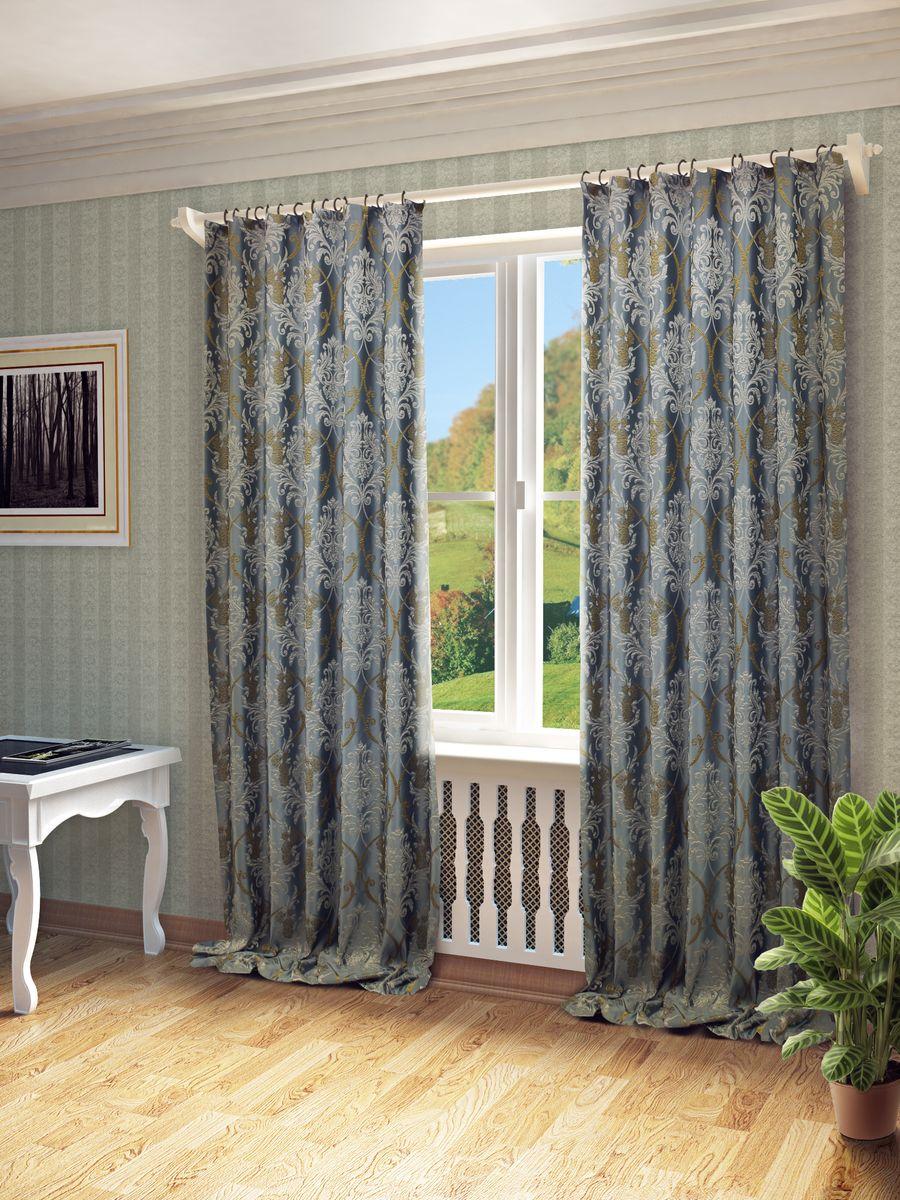 Штора Sanpa Home Collection Джоли, на ленте, цвет: голубой, высота 260 смHPO01304/801/1E Джоли голубой, , 150*260 см