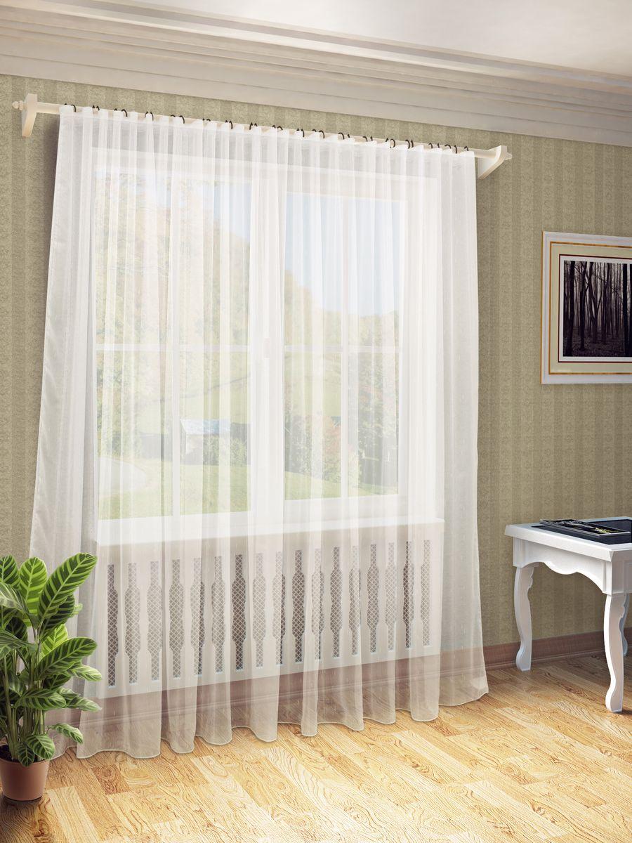 Тюль Sanpa Home Collection Долорес, на ленте, цвет: бежевый, высота 280 смHP10167/1-2000/1E Долорес бежев, , 300*280 см
