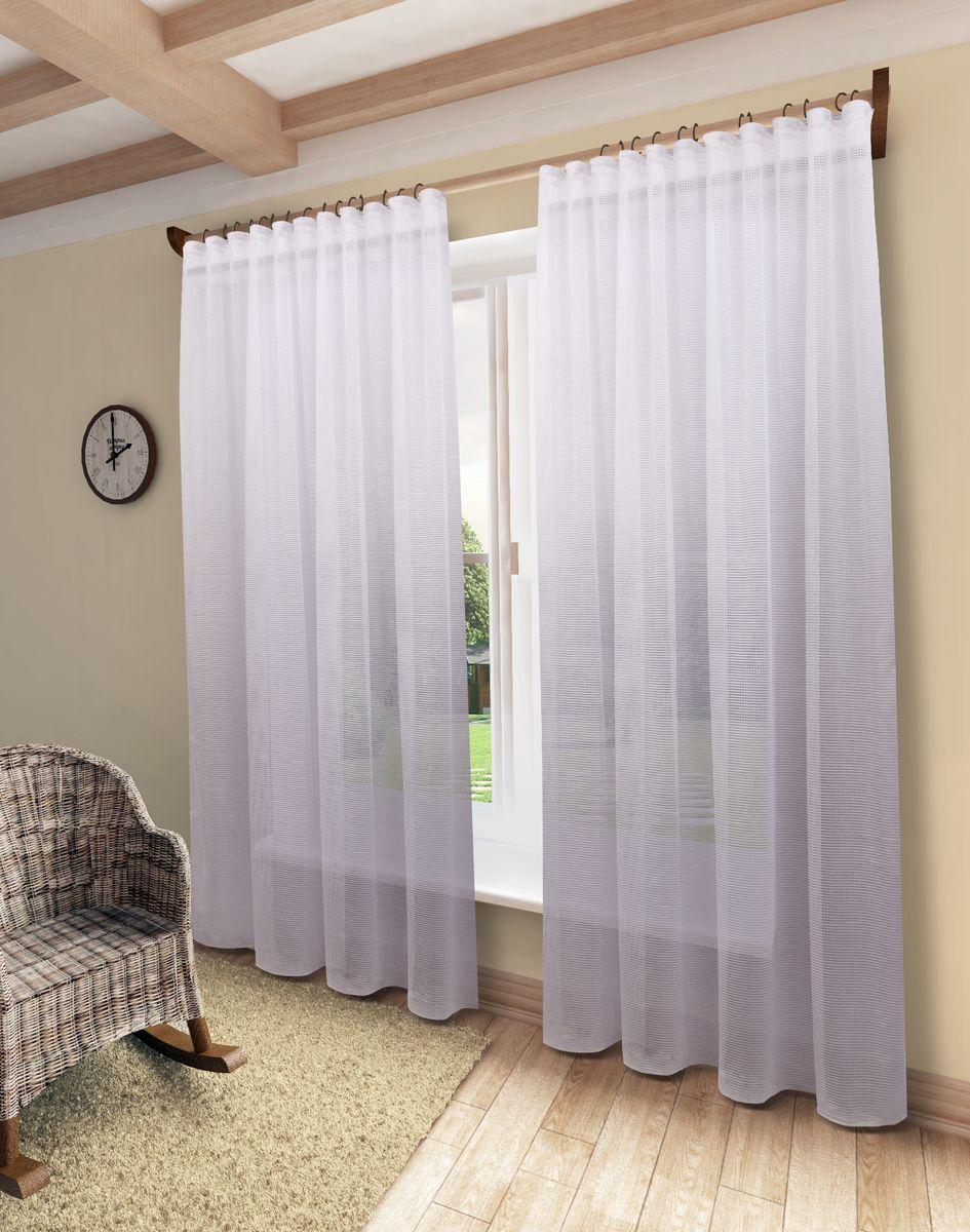 Тюль Sanpa Home Collection Мадлен, на ленте, цвет: белый, высота 280 смHP10424/1/1E Мадлен белый, , 300*280 см