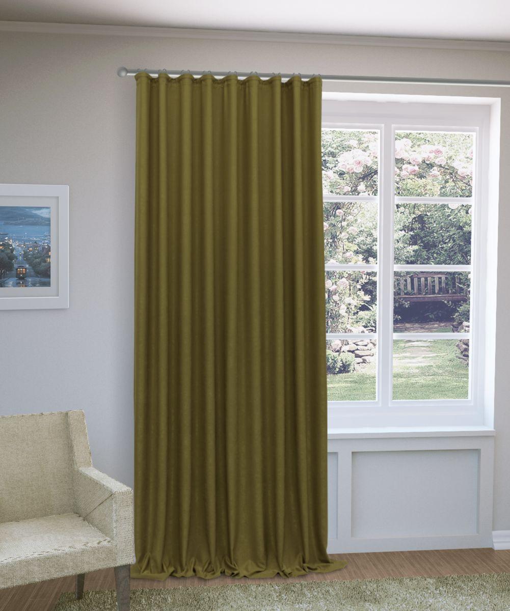 Штора Sanpa Home Collection Зелма, на ленте, цвет: хаки, высота 270 смHP8130/216/1E Зелма хаки, , 200*270 см