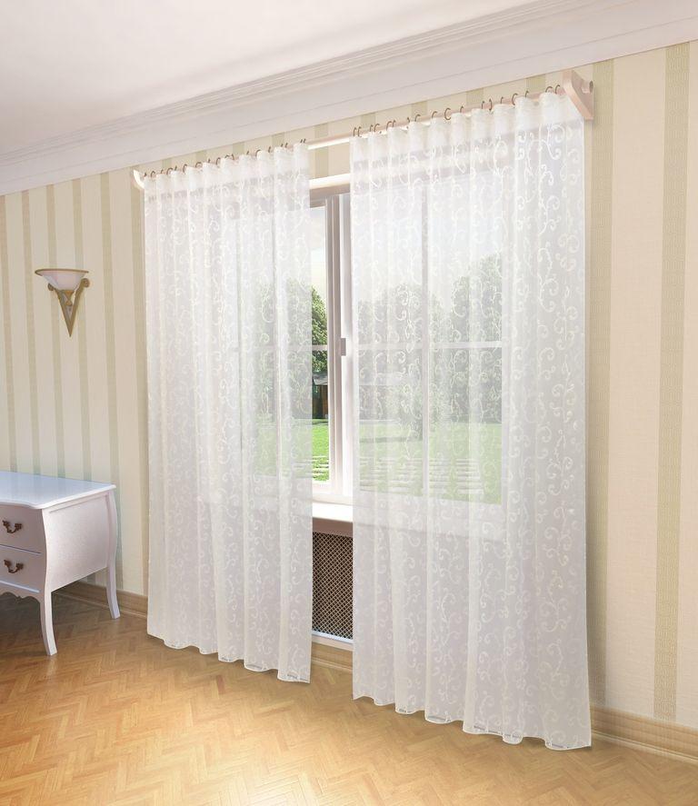 Тюль Sanpa Home Collection Аделина, на ленте, цвет: белый, высота 280 смHP2072/11/1E Аделина белый, , 300*280 см