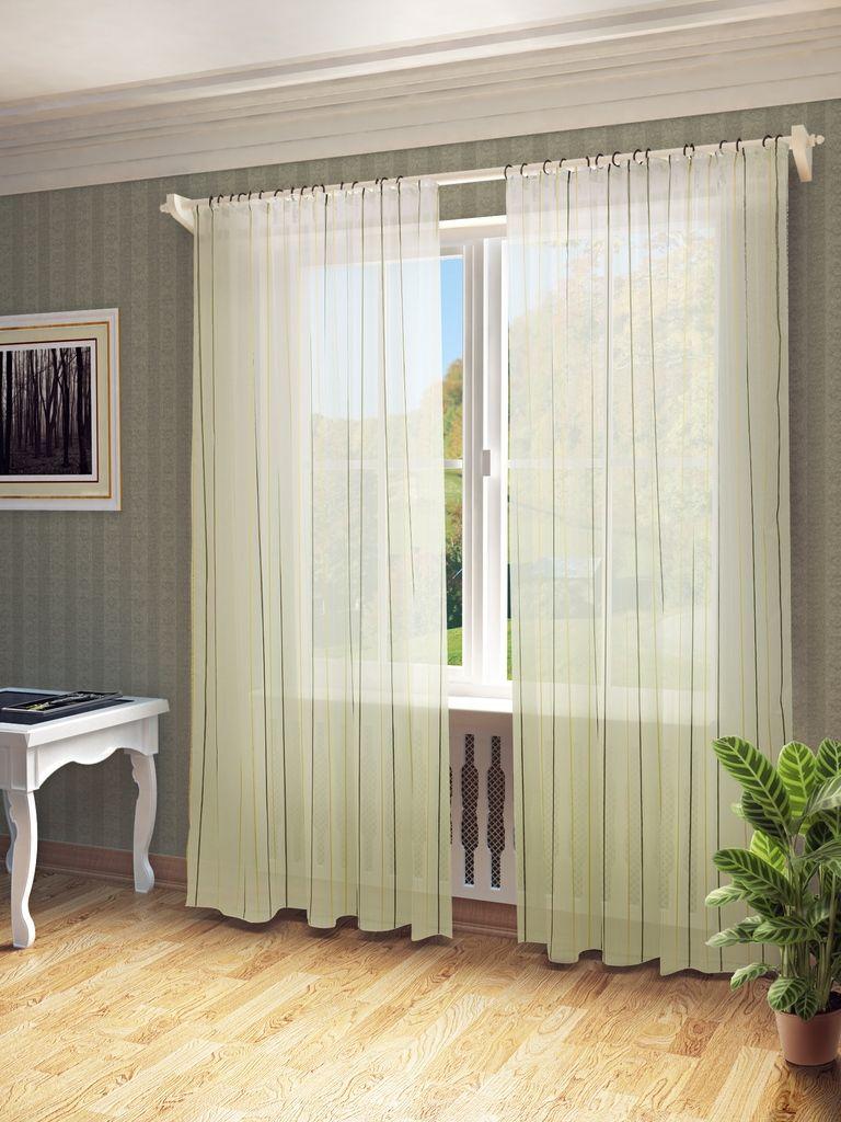 Тюль Sanpa Home Collection Антония, на ленте, цвет: бежево-коричневый, высота 280 смHP10414/2/1E Антония беже-коричнев, , 300*280 см
