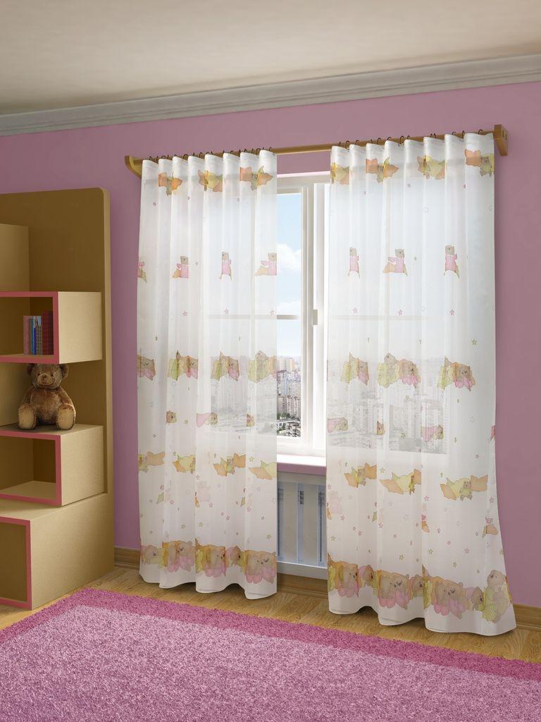 Тюль Sanpa Home Collection Барни, на ленте, цвет: розовый, высота 280 смHP12014/1E, микс Барни, , 300*280 см