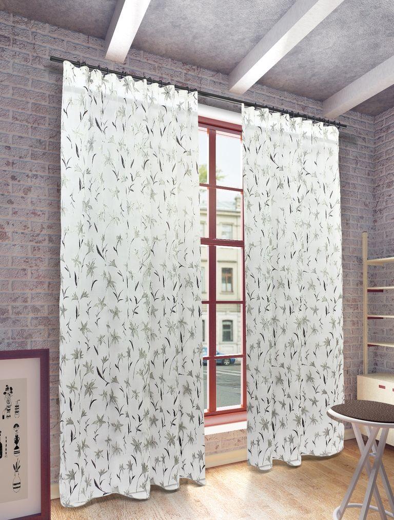 Тюль Sanpa Home Collection Антия, на ленте, цвет: серый, высота 280 смHP5170/10/1E Антия серый, , 300*280 см