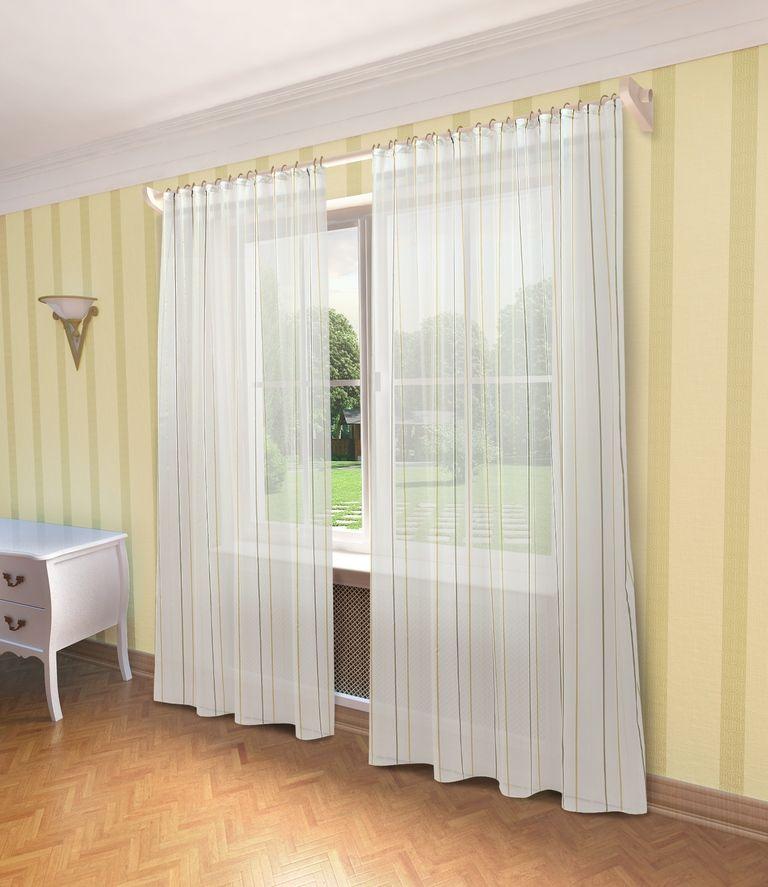 Тюль Sanpa Home Collection Антония, на ленте, цвет: желтый, высота 280 смHP10414/1/1E Антония желтый, , 300*280 см