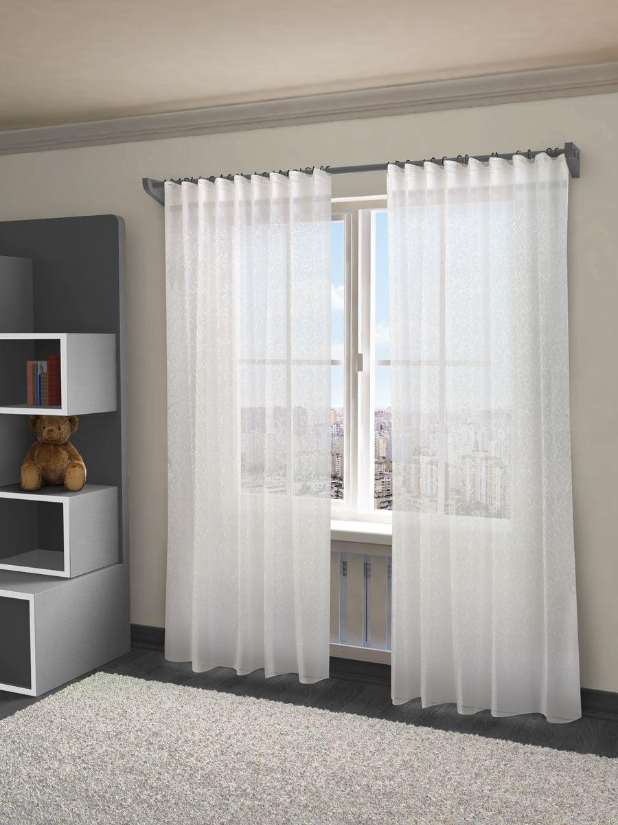 Тюль Sanpa Home Collection Марилу, на ленте, цвет: белый, высота 280 смHP24345/A1/1E Марилу белый, , 300*280 см