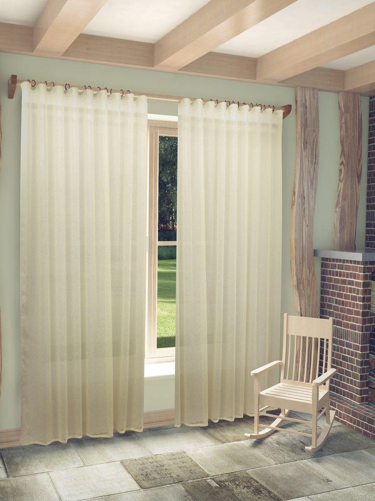 Тюль Sanpa Home Collection Веста, на ленте, цвет: бежевый, высота 280 смHP1012/2501/1Е Веста бежев, , 300*280 см