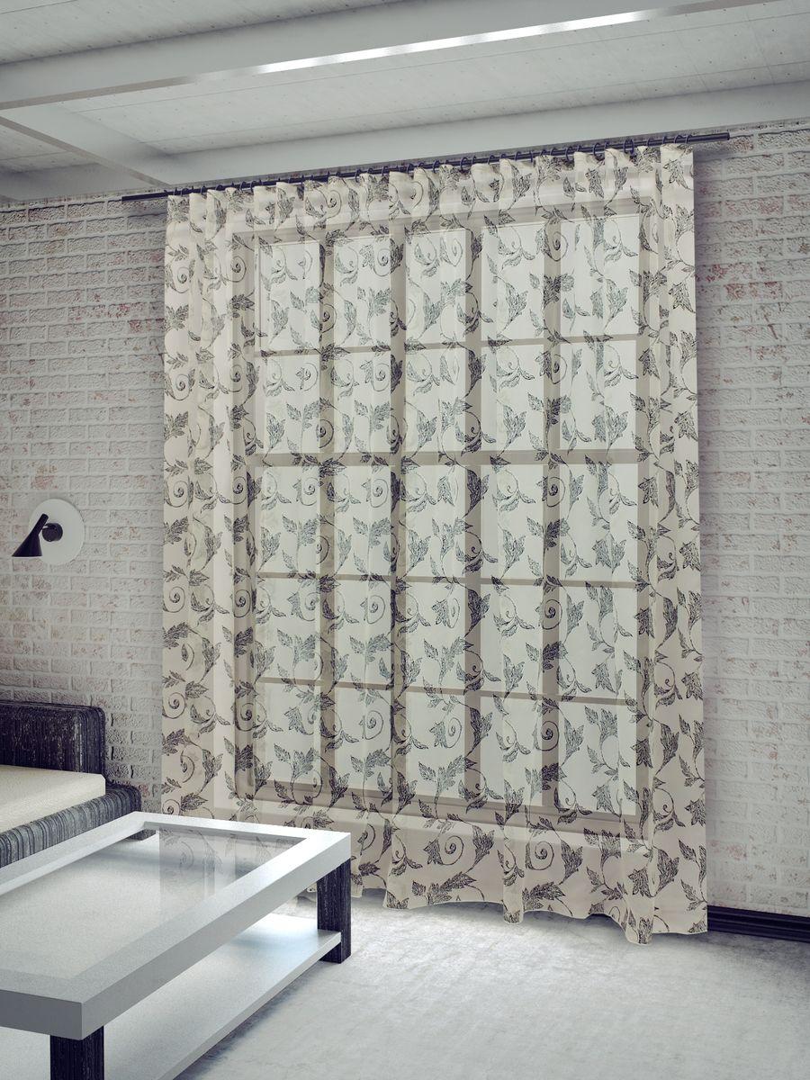 Тюль Sanpa Home Collection Изабелла, на ленте, цвет: серый, высота 260 смHP2084/6/1E ИЗАБЕЛЛА серый, , 300*260 см