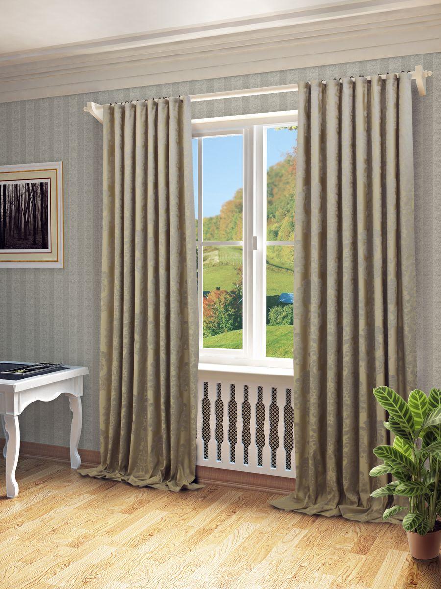 Штора Sanpa Home Collection Лаура, на ленте, цвет: светло-серый, высота 280 смHP81541/3/1Е Лаура светло-серый, , 200*280 см