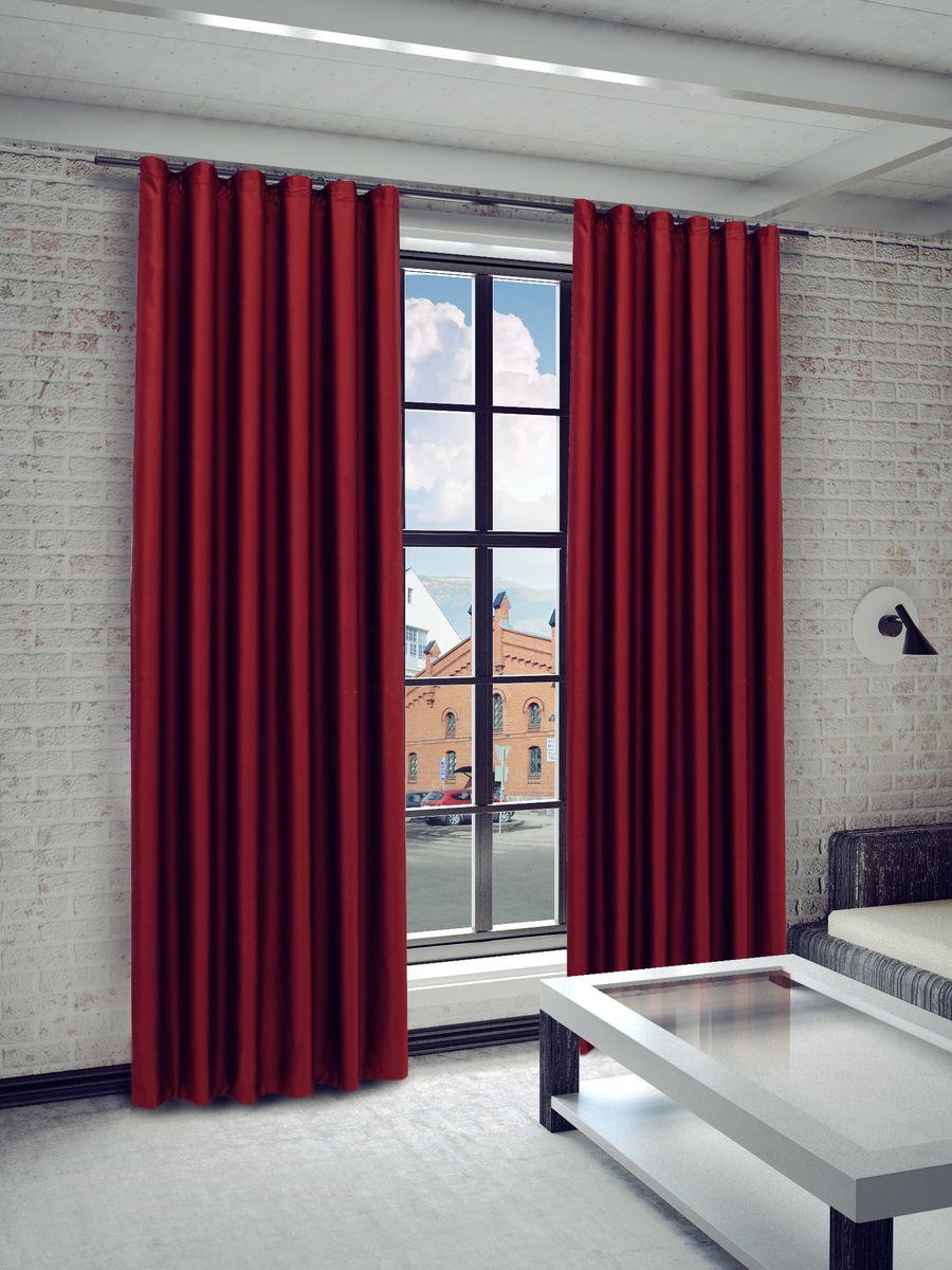 Штора Sanpa Home Collection Габриэла, на ленте, цвет: бордовый, высота 260 смHP8218/52/1E Габриэла бордовый, , 150*260 см