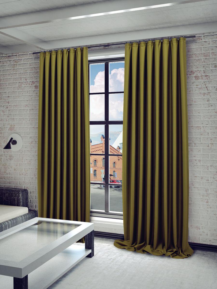 Штора Sanpa Home Collection Твила, на ленте, цвет: хаки, высота 280 смHP blackout/118/1E Твила светло-хаки , 200*280 см
