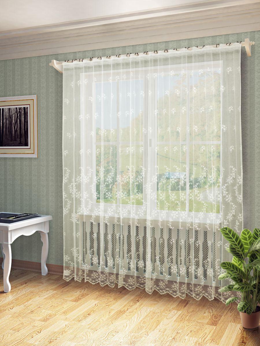 Тюль Sanpa Home Collection Надия, на ленте, цвет: экрю, высота 260 смHP24370/2/1E Надия экрю, , 300*260 см