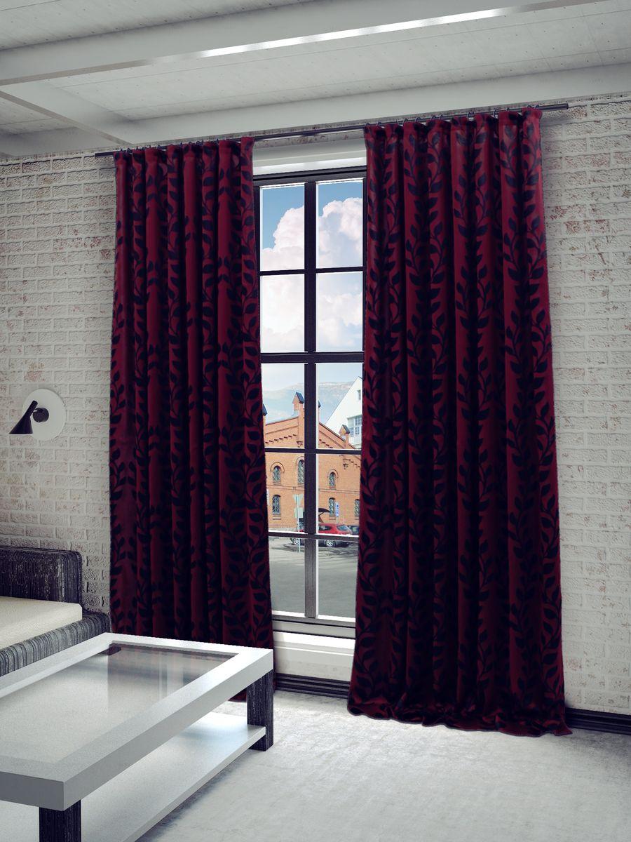 Штора Sanpa Home Collection Алекса, на ленте, цвет: красный, черный, высота 260 смHP65121/9/1E АЛЕКСА красный, , 150*260 смШтора Алекса с не ярким узором изготовлена из ткани жаккард. Жаккард - одна из дорогостоящих тканей, так как её производство трудозатратно. Своеобразный рельефный рисунок, который получается в результате сложного переплетения на плотной ткани, напоминает гобелен. Крепление к карнизу осуществляется при помощи вшитой шторной ленты.