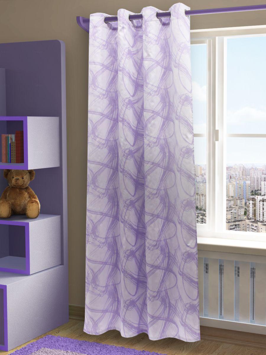 Штора Sanpa Home Collection Талита, на люверсах, цвет: сиреневый, высота 260 смHP3239/1303/1H Талита сиренев, , 150*260 см
