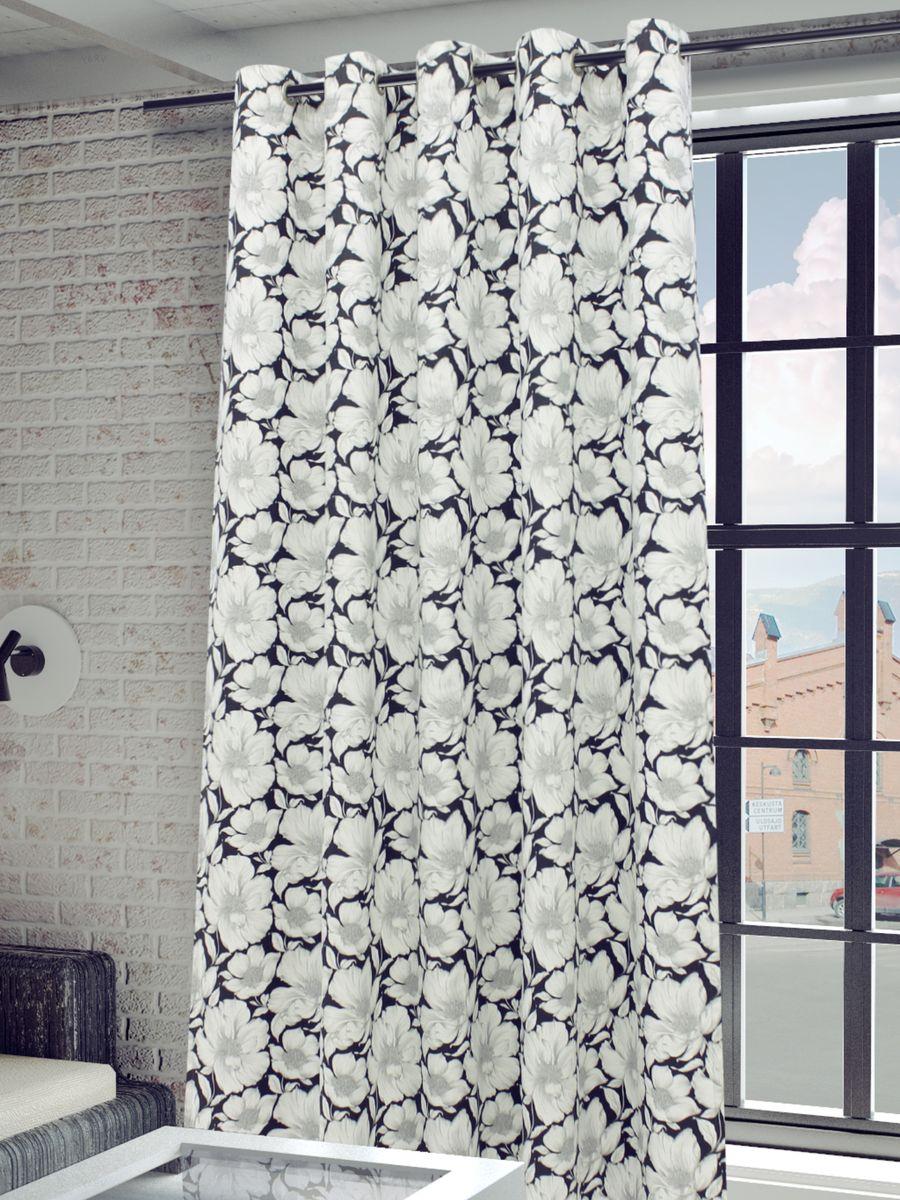 Штора Sanpa Home Collection  Янита, на люверсах, цвет: серый, высота 260 смHP4137/37/1H Янита серый, , 200*260 см