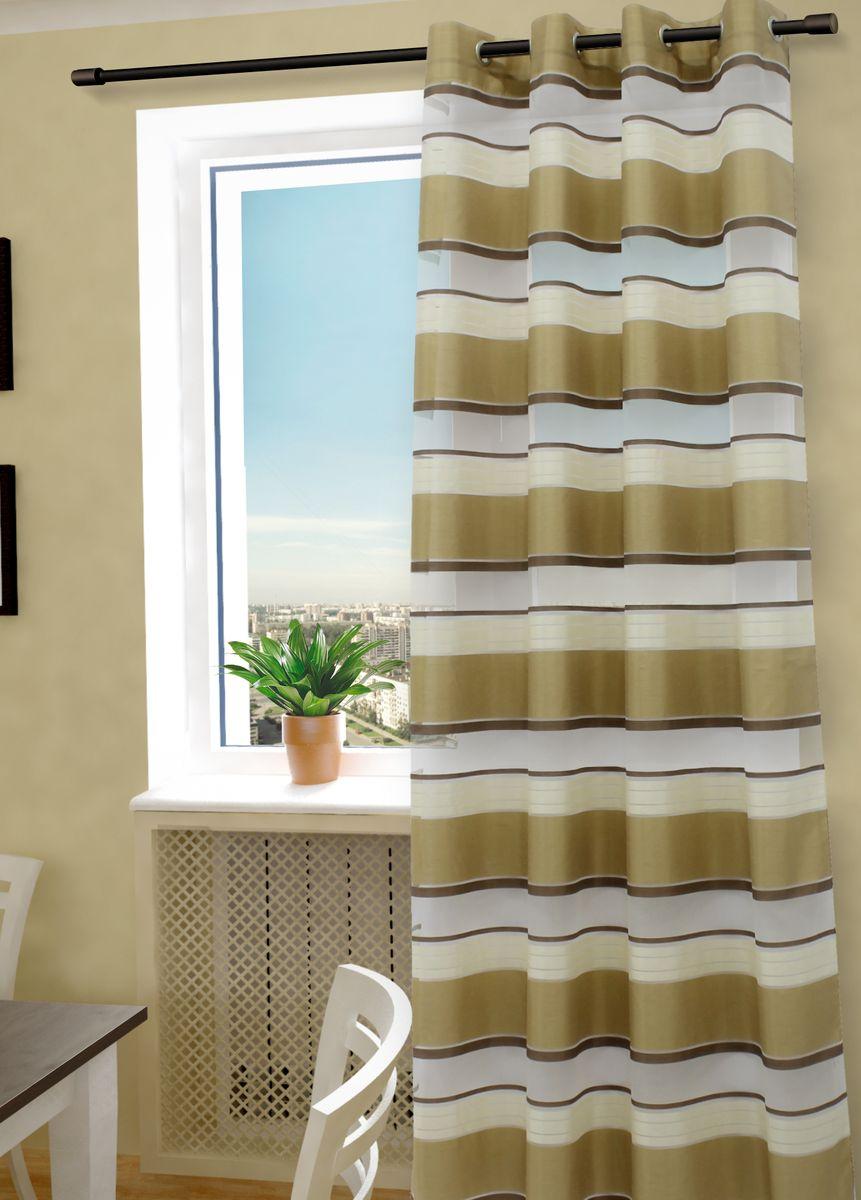 Тюль Sanpa Home Collection Алира, на люверсах, цвет: бежевый, высота 260 смHP20274/3/1H Алира бежевый, , 150*260 см