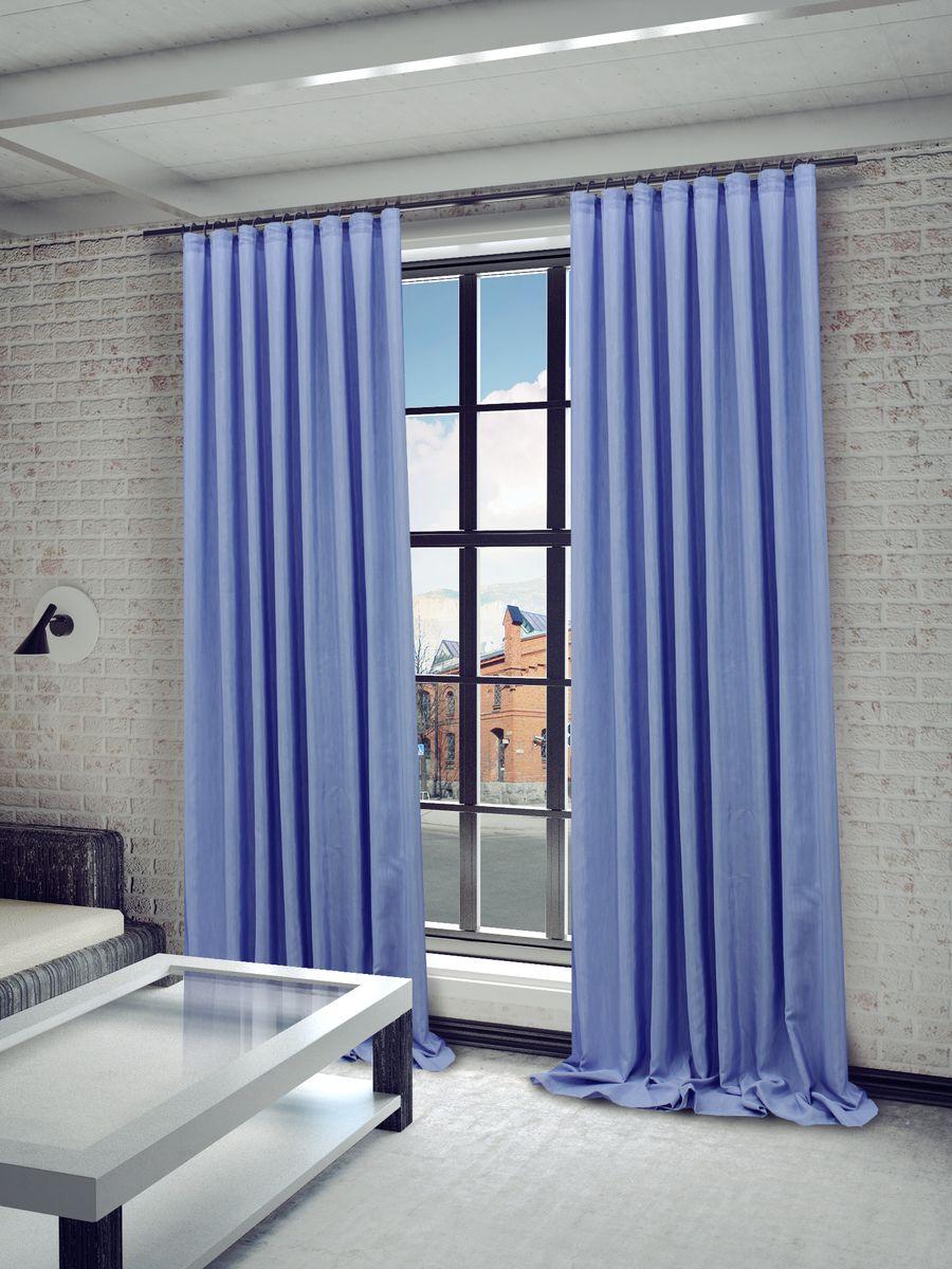 Штора Sanpa Home Collection Агнес, на ленте, цвет: голубой, высота 280 смHP8120/3713/1E Агнес голубой, , 200*280 см