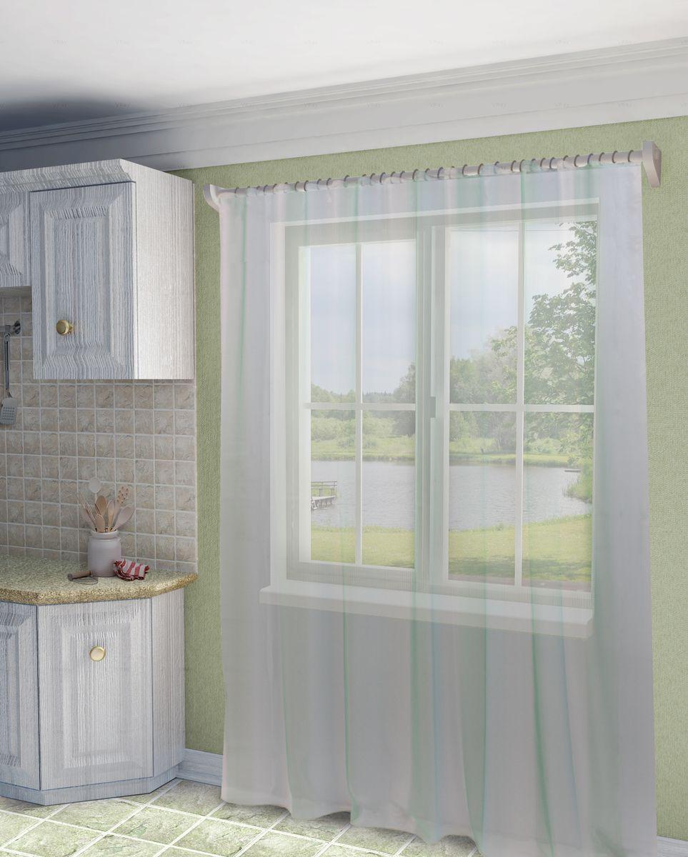 Тюль Sanpa Home Collection Мери, на ленте, цвет: бирюзовый, высота 280 смHP10001/40/1E Мери бирюзовый, , 300*280 см