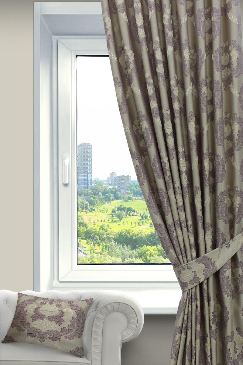 Штора Sanpa Home Collection , на ленте, цвет: сиреневый, высота 260 смHP02552/105/1Е Силвана сирен, , 200*260-1шт+подхват