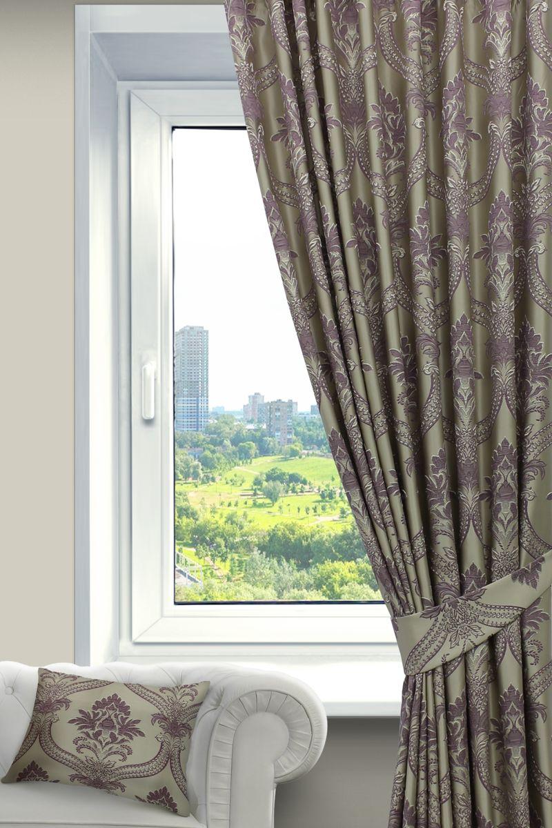 Штора Sanpa Home Collection Нанзия, на ленте, цвет: сиреневый, высота 260 смHP02452/105/1Е Нанзия сирен, , 200*260-1шт+подхват