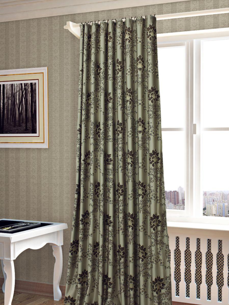 Штора Sanpa Home Collection Элина, на ленте, цвет: коричневый, высота 260 смHP02453/101/1Е Элина коричн, , 200*260-1шт+подхват