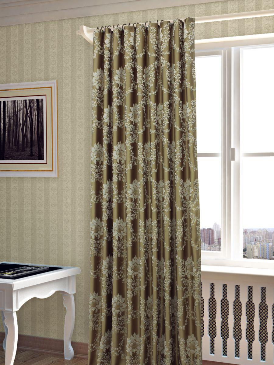 Штора Sanpa Home Collection Элина, на ленте, цвет: золотистый, высота 260 смHP02453/402/1Е Элина золотист, , 200*260-1шт+подхват
