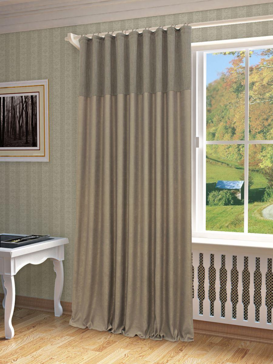 Штора Sanpa Home Collection Эльза, на ленте, цвет: серый, высота 260 смHP01258/116/1E Эльза серый, , 200*260-1шт+подхват