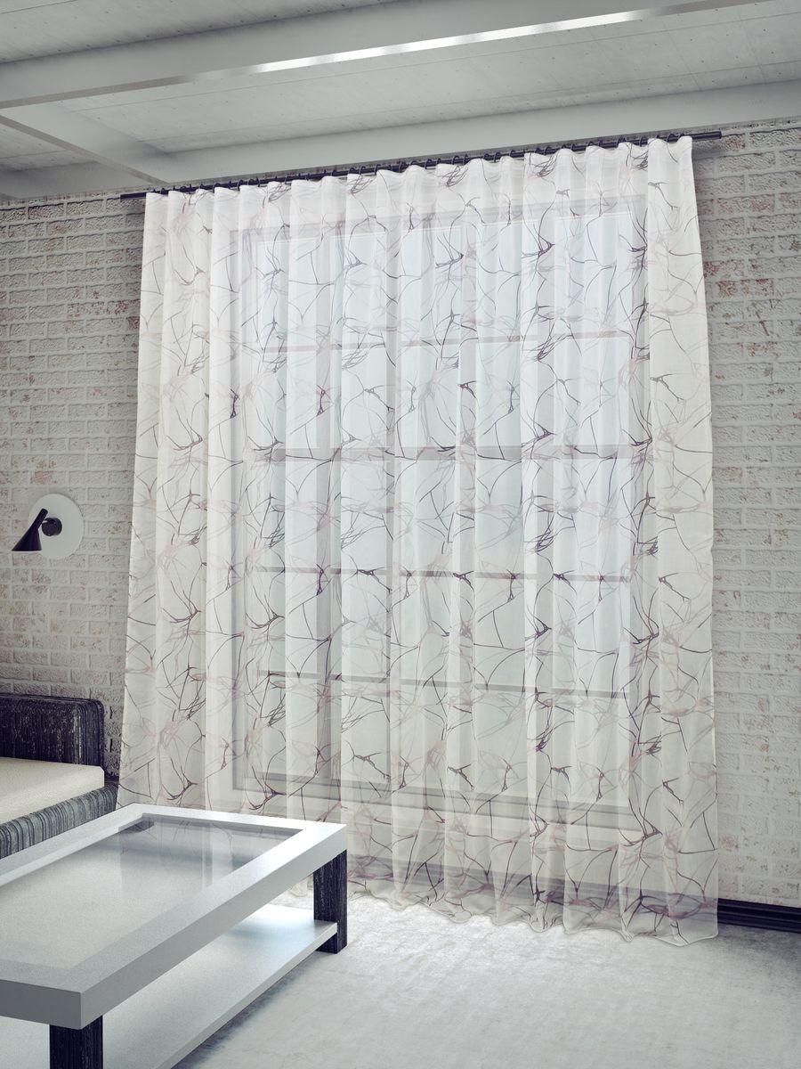 Тюль Sanpa Home Collection Вида, на ленте, цвет: сиреневый, высота 260 смHP4229/43/1Е Вида сиреневый, , 400*260 см