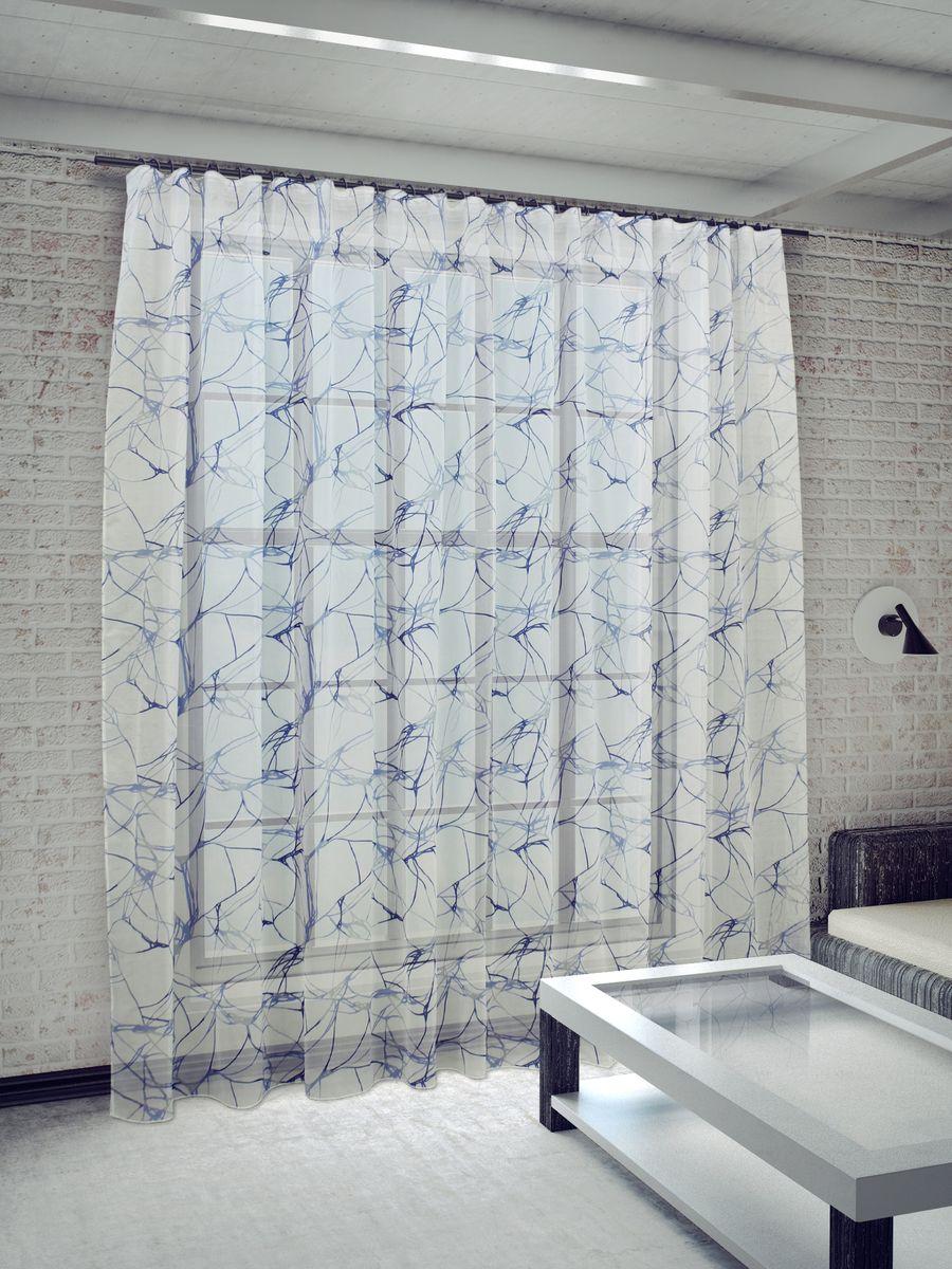 Тюль Sanpa Home Collection Вида, на ленте, цвет: голубой, высота 260 смHP4229/45/1Е Вида голубой, , 400*260 см