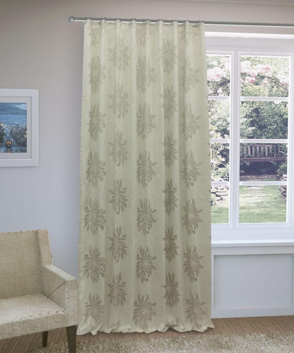 Штора Sanpa Home Collection Жаклин, на ленте, цвет: светло-серый, высота 260 смHP3515/7103/1E Жаклин св.серый, , 200*260-1шт+подхват