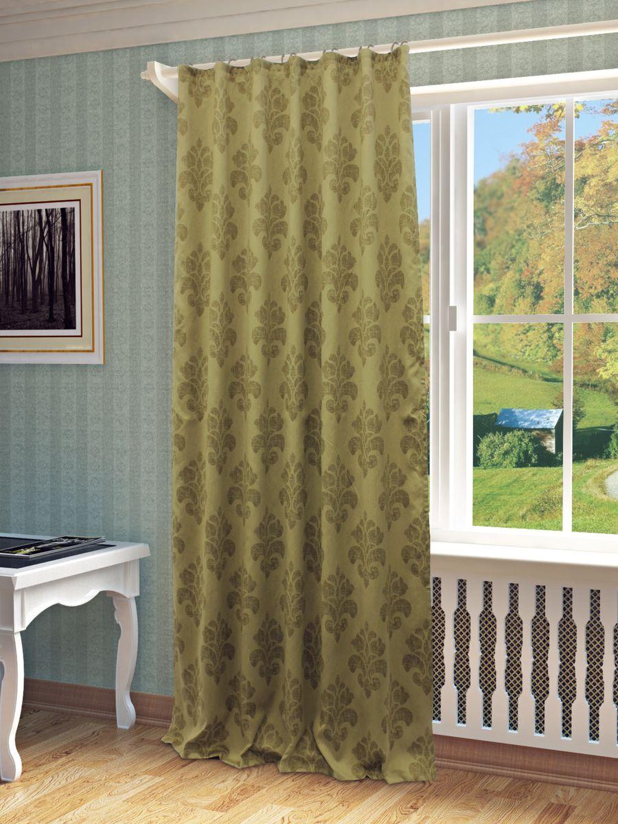 Штора Sanpa Home Collection Латоя, на ленте, цвет: коричневый, высота 260 смHP65119/9/1E Латоя коричневый, , 150*260 см