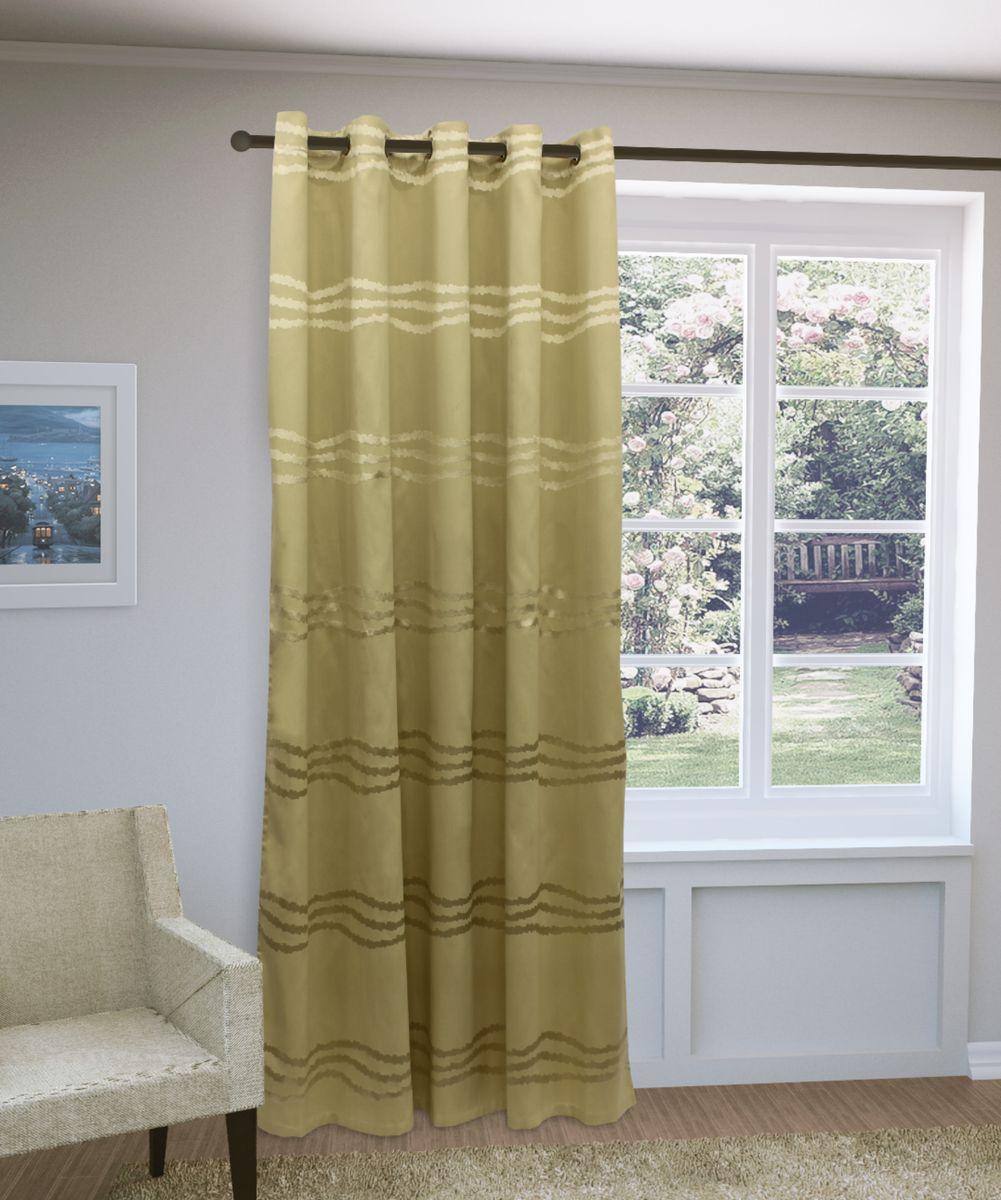 Штора Sanpa Home Collection Кимберли, на люверсах, цвет: бежевый, высота 260 смHP3571/1302/1H Кимберли бежевый, , 200*260 см