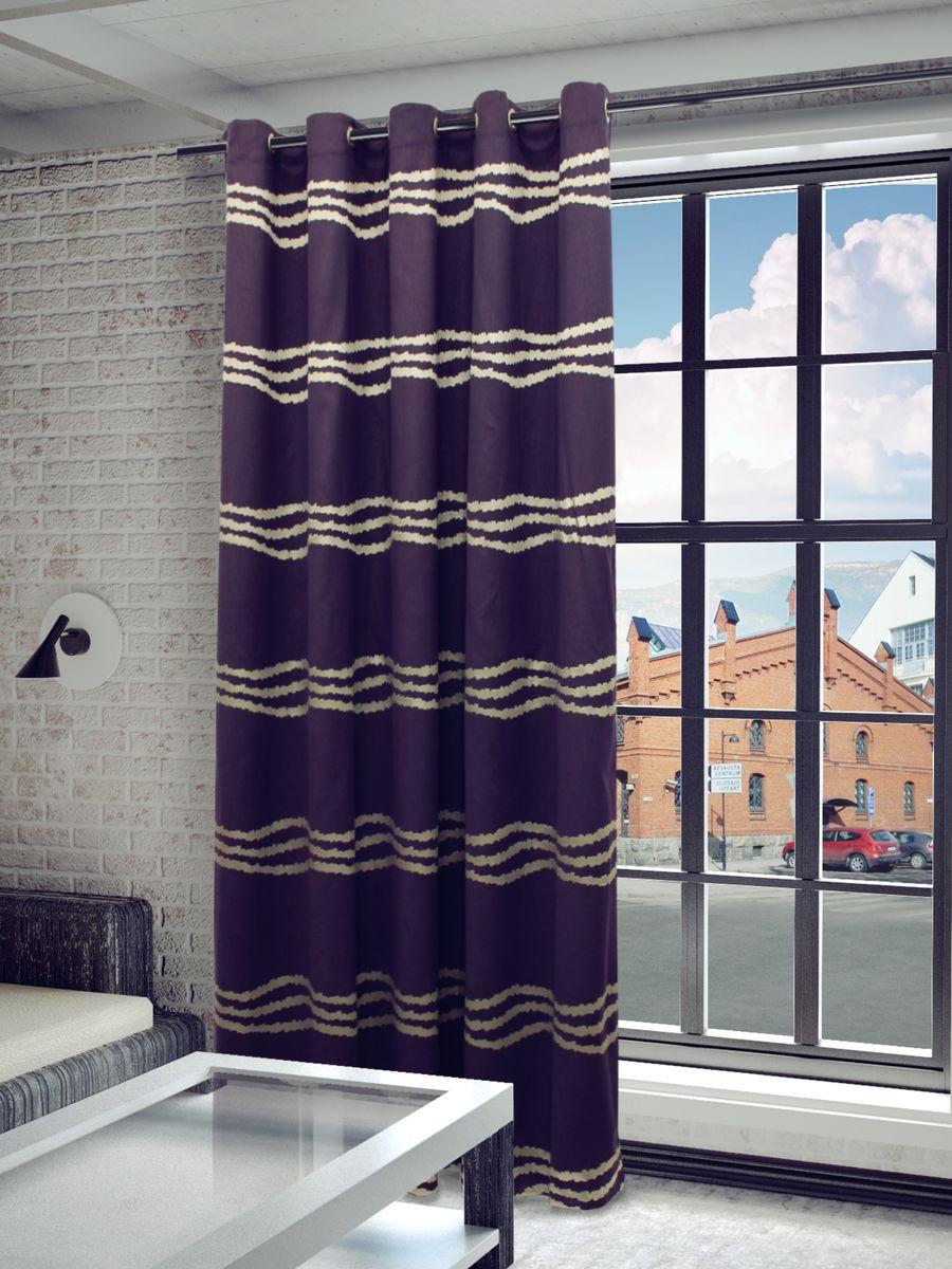 Штора Sanpa Home Collection Кимберли, на люверсах, цвет: фиолетовый, высота 260 смHP3571/606/1H Кимберли фиолетов, , 200*260 см